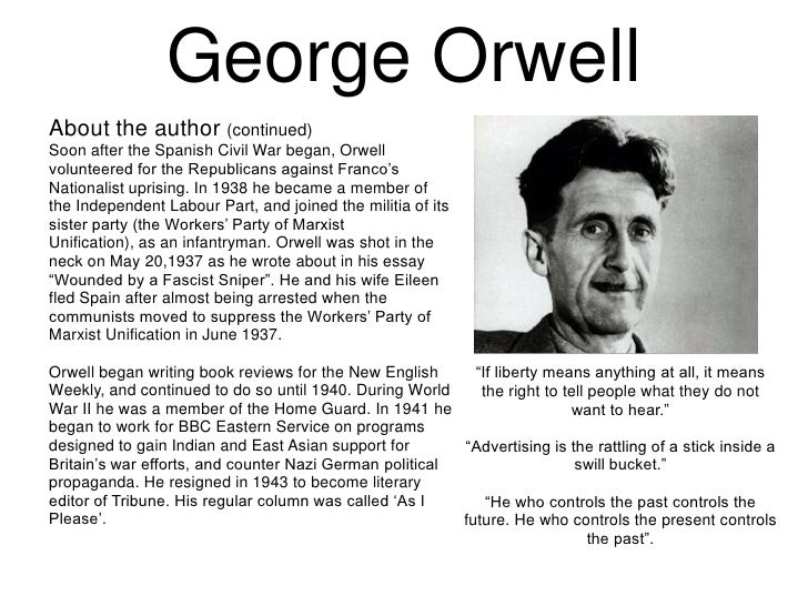 a literary analysis of why i write by george orwell Political writings of george orwell by george orwell contents essays • politics and the english language • why i write • notes on nationalism • the prevention of literature.