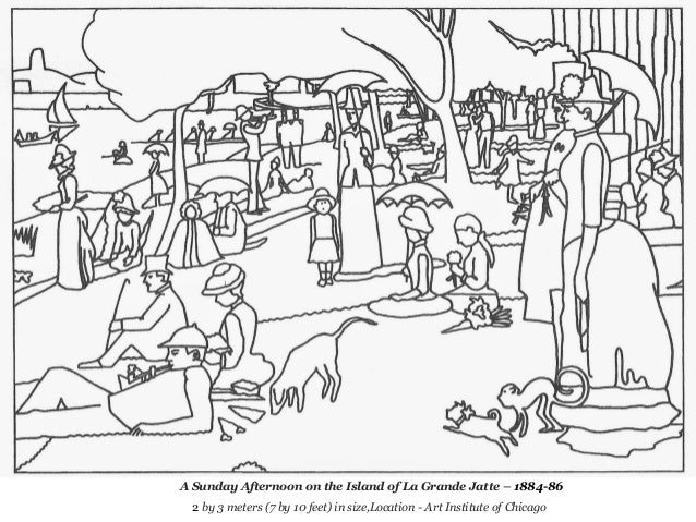 Georges Seurat Coloring Pages Seurat Coloring Pages