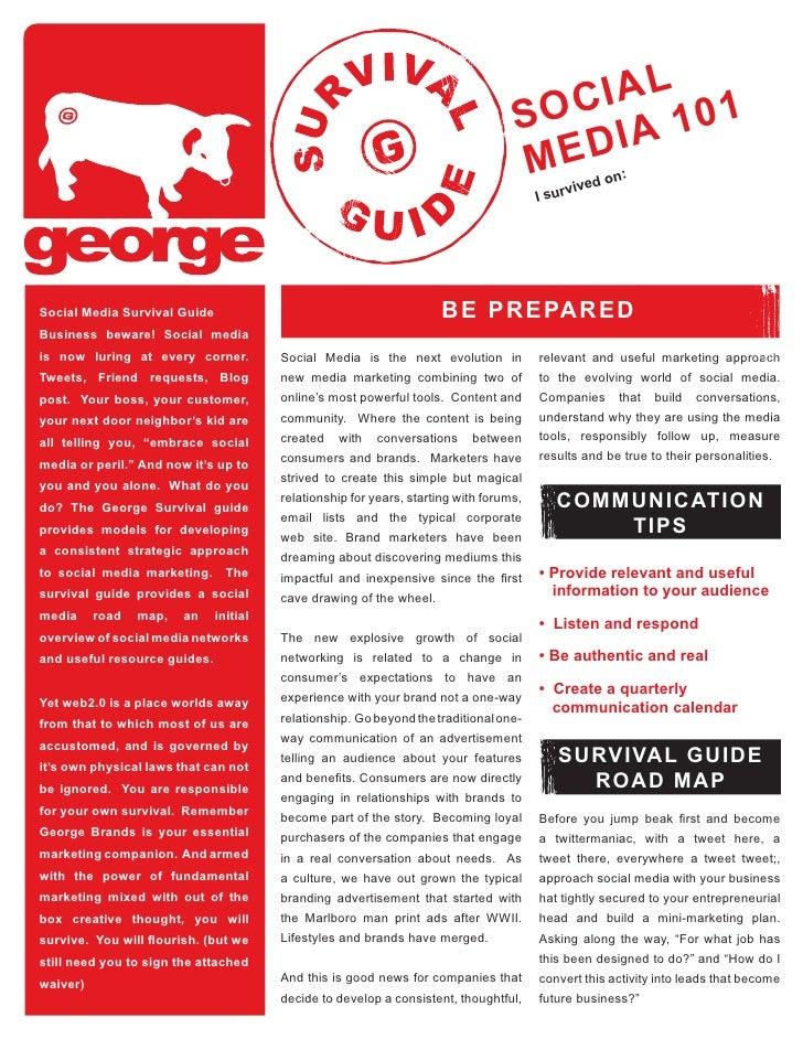 George Survival Guide Social Media