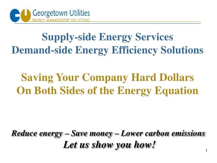 Georgetown Utilities: Overview