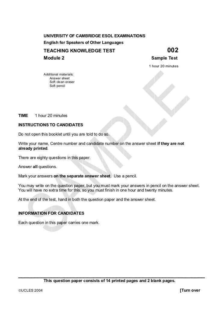 Georgia education-exams-tkt-module2