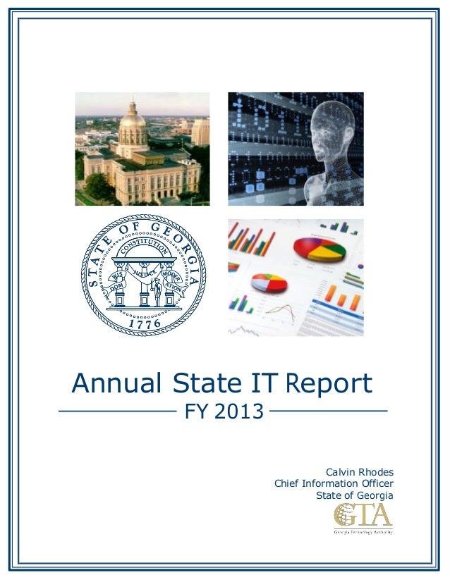 Georgia annual state it report 2013
