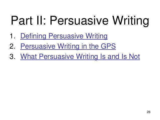 Parts of Persuasive Writing?