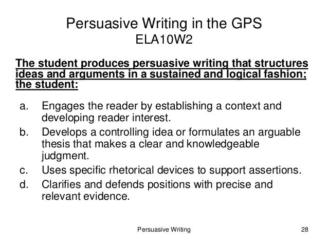persuasive writing for 5th grade