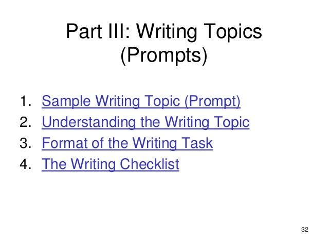 High school writing test?