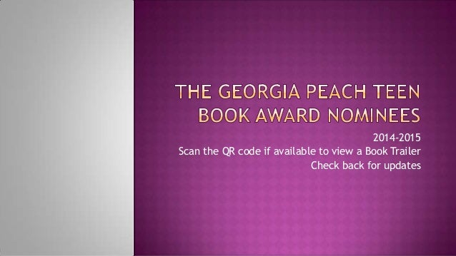Georgia Peach Book Award Nominees 2014 2015