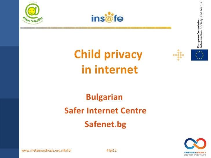 Georgi Apostolov – Child's privacy on the Internet