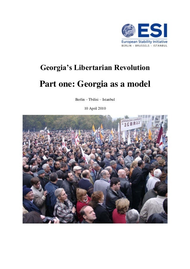 Georgias libertarian revolution part one-georgia as a model 10 april 2010