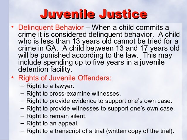 should juvenile offenders be tried and punished as adults pdf