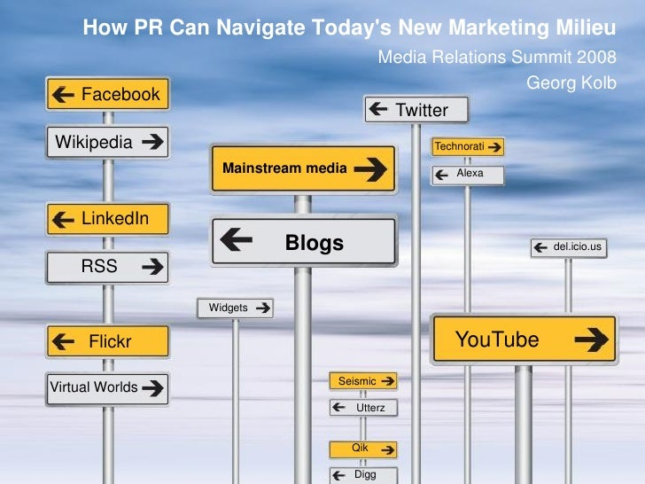 How PR Can Navigate Today's New Marketing Milieu                                              Media Relations Summit 2008 ...