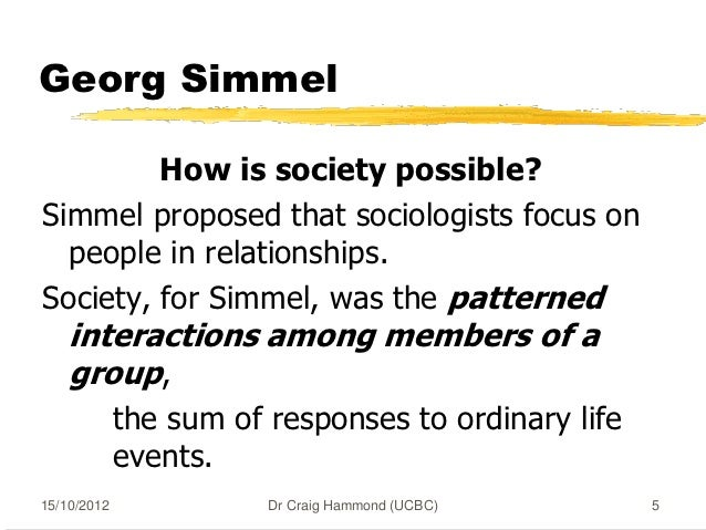 what did georg simmel seek to Georg simmel's famous fashion represents nothing more than one of the many forms of life by the aid of which we seek to combine in uniform spheres of activity the.