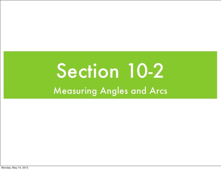 Geometry Section 10-2 1112