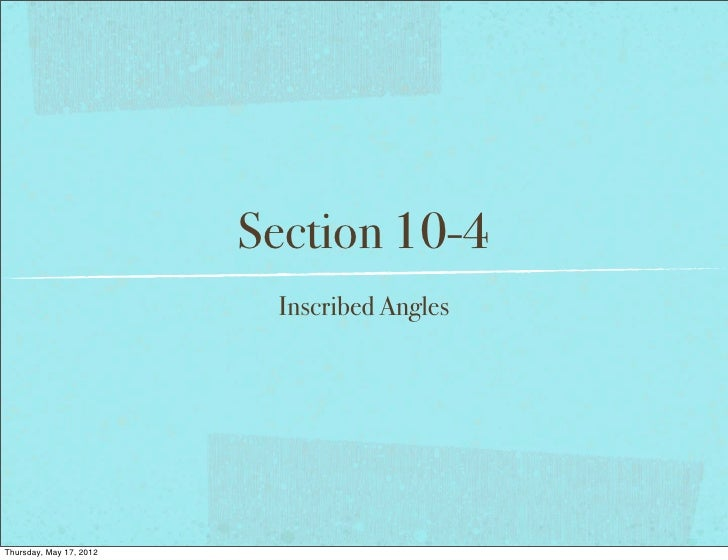 Geometry Section 10-4 1112