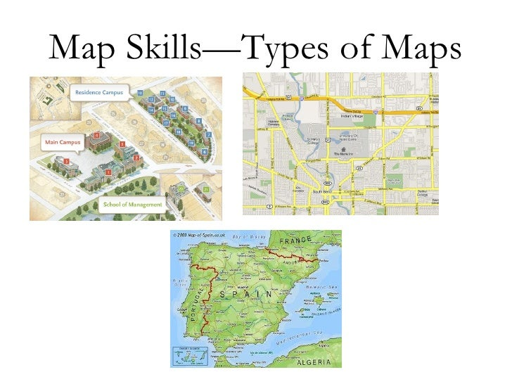 Geo skills 1 -map types