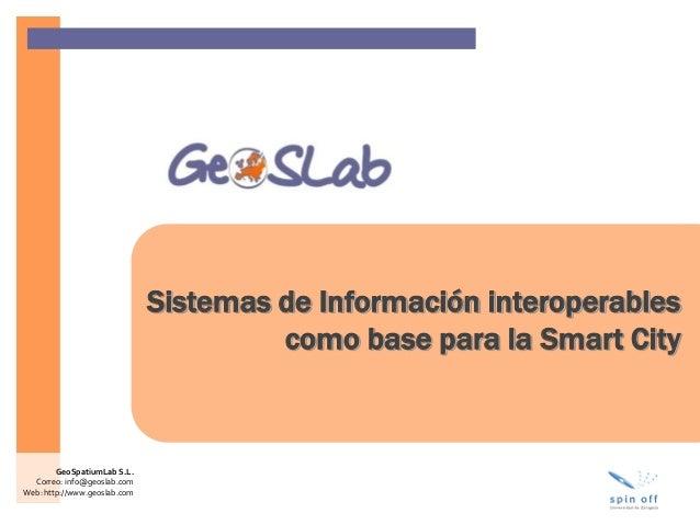 Sistemas de información interoperables como base para la Smart City