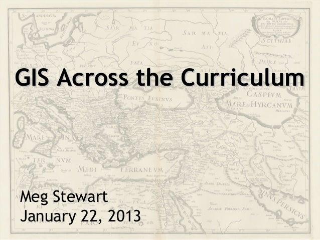 GIS Across the Curriculum
