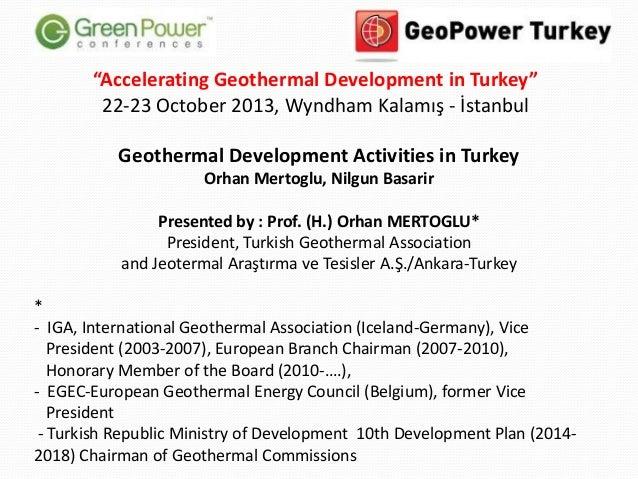 Geothermal Development in Turkey