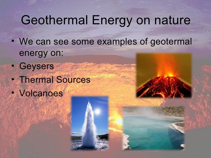energy is thermal energy gerenated and store in the earth