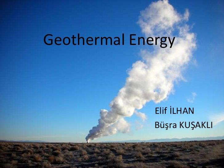 Geothermal energy 1