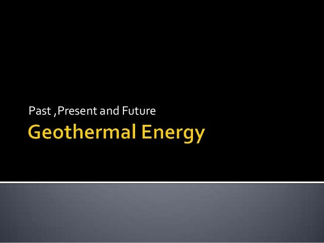 Geothermal energy slide show