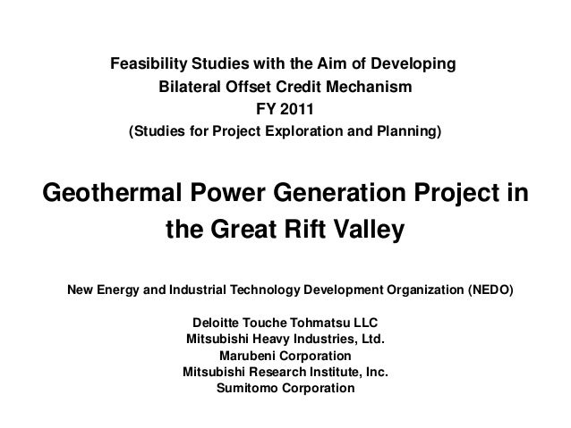 Feasibility Studies with the Aim of Developing Bilateral Offset Credit Mechanism FY 2011 (Studies for Project Exploration ...