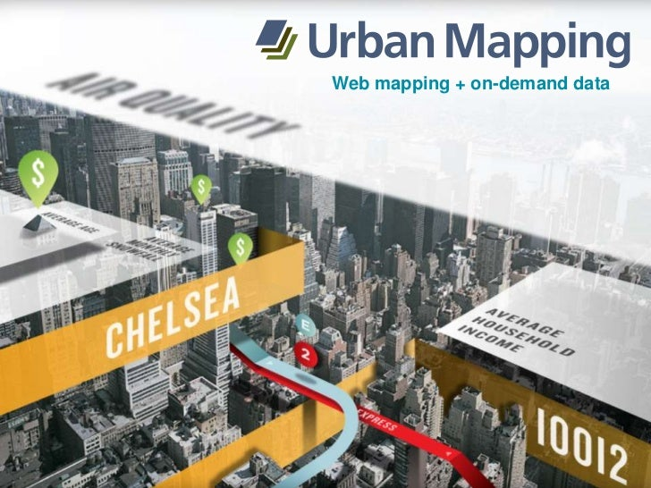 Web mapping + on-demand data<br />