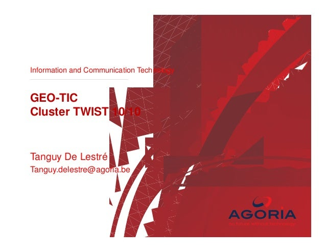 GEO state of play 2013/ Intergeo / Agoria APP Alliance