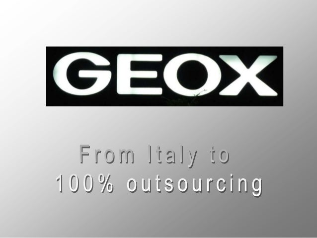China • Geox entered the Chinese market in 2003 by a partnership with Aokang which was responsible for distributing Geox's...