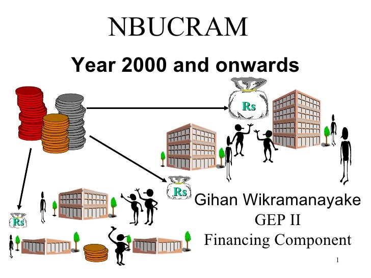 NBUCRAM Year 2000 and onwards Gihan Wikramanayake GEP II Financing Component Rs Rs Rs