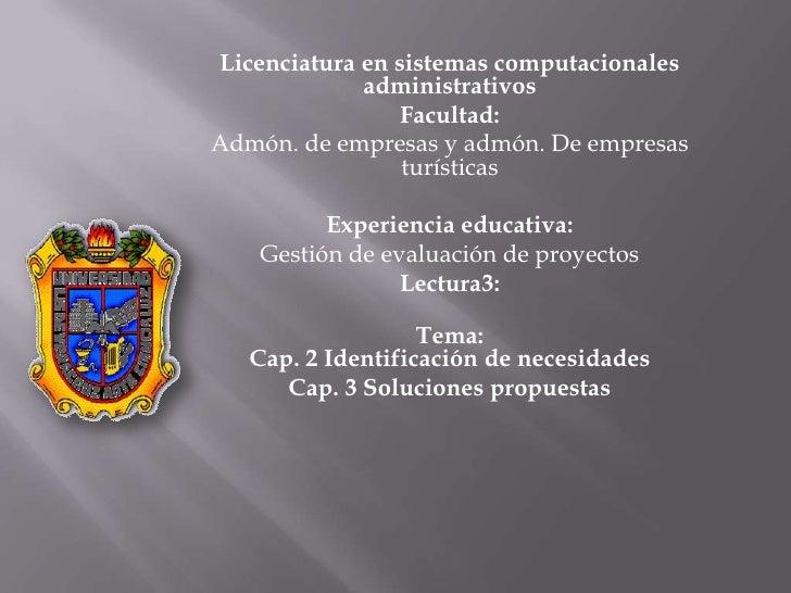 Licenciatura en sistemas computacionales              administrativos                  Facultad: Admón. de empresas y admó...