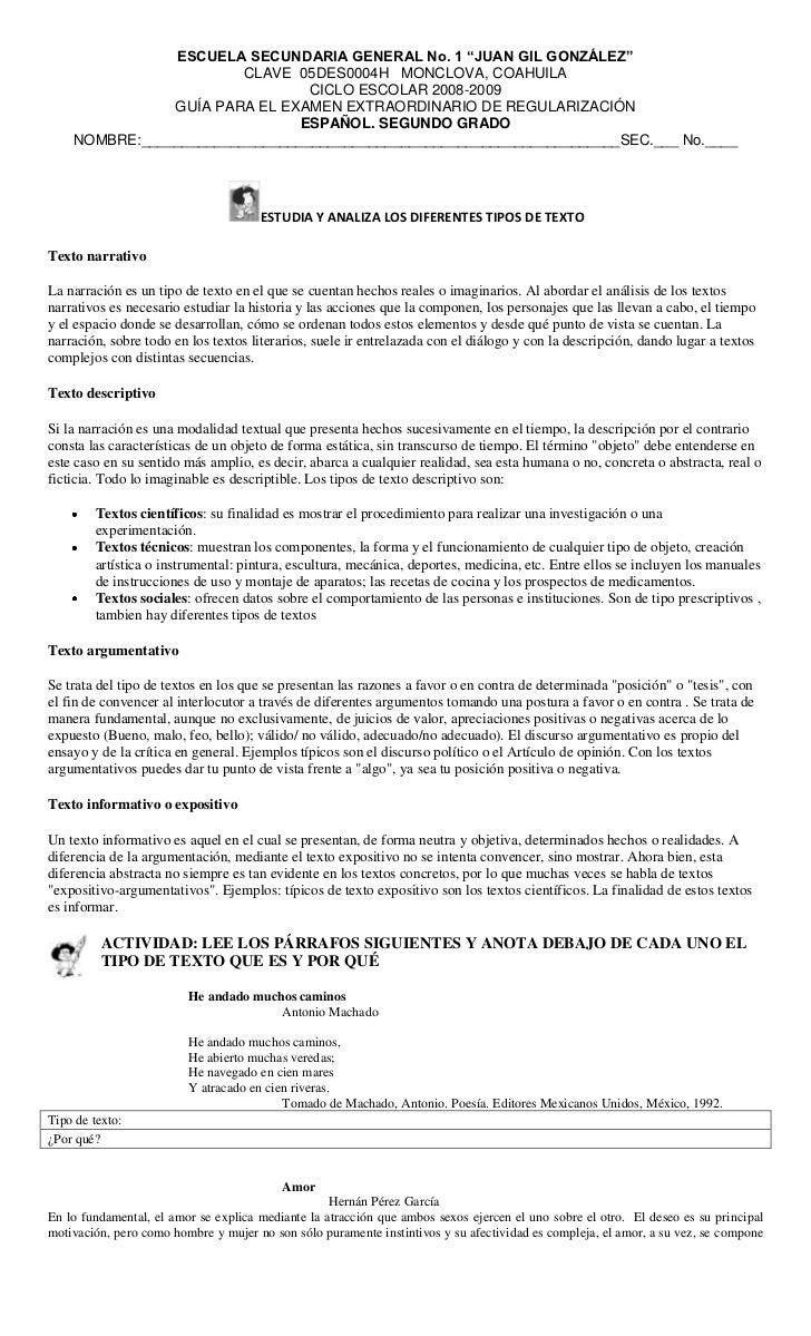 "ESCUELA SECUNDARIA GENERAL No. 1 ""JUAN GIL GONZÁLEZ""                         CLAVE 05DES0004H MONCLOVA, COAHUILA          ..."