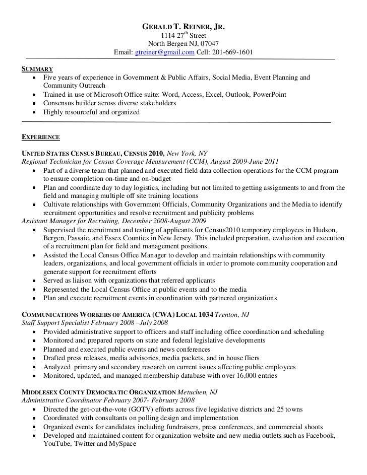 gerald t reiner u0026 39 s resume