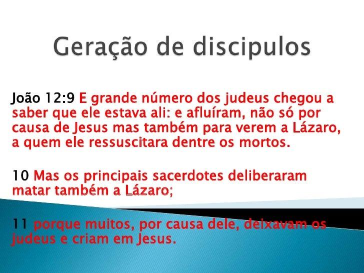 João 12:9 E grande número dos judeus chegou asaber que ele estava ali: e afluíram, não só porcausa de Jesus mas também par...