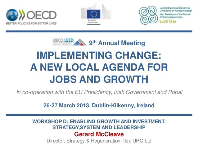 Gerard McCleave - Enabling growth and investment