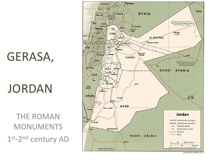 GERASA, JORDAN<br />THE ROMAN MONUMENTS<br />1st-2nd century AD<br />