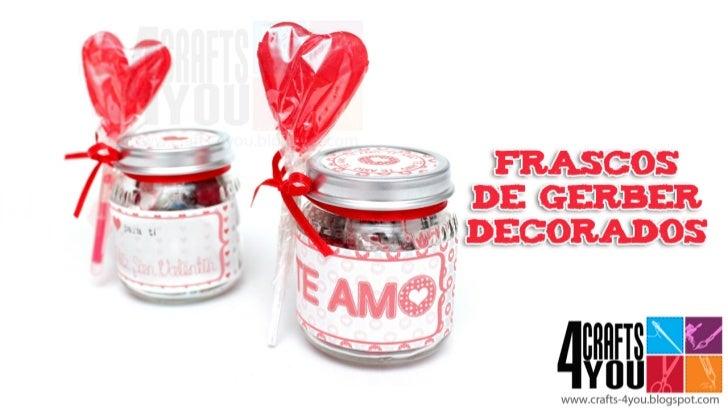 Gerber decorado (regalo fácil y rápido 14 de febrero - San Valentín)