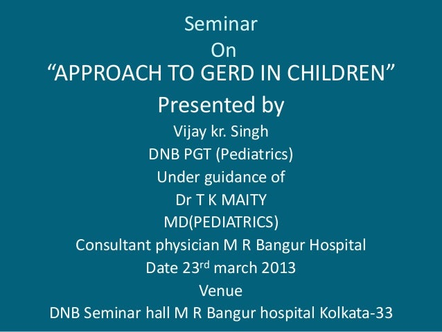 Gerd in children and its treatment