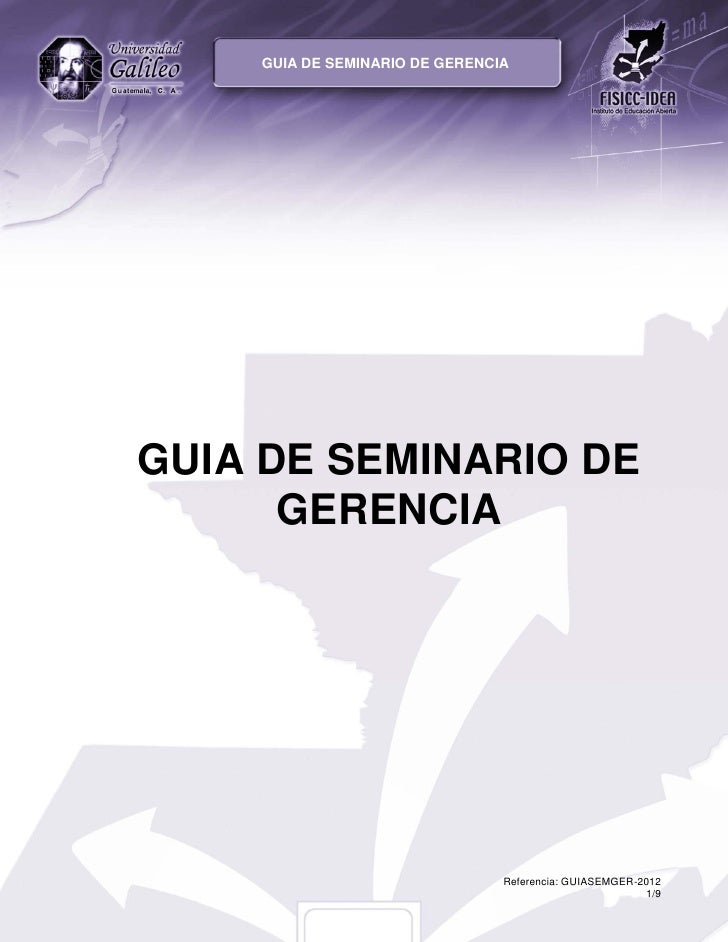 GUIA DE SEMINARIO DE GERENCIA
