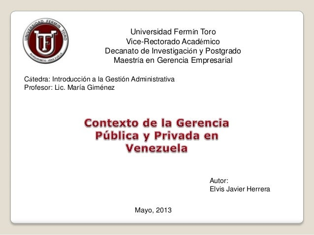 Universidad Fermín ToroVice-Rectorado AcadémicoDecanato de Investigación y PostgradoMaestría en Gerencia EmpresarialCátedr...