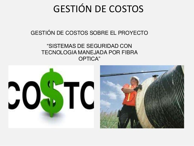 Gerencia de costos
