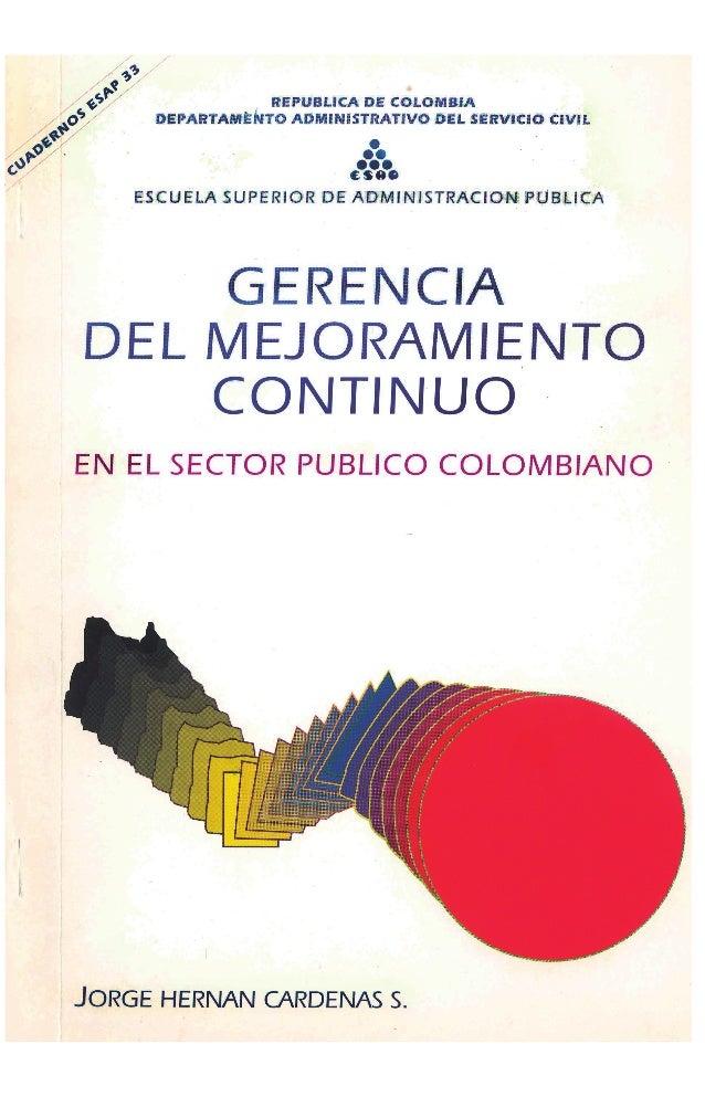 REPUBLICA DE COLOMBIA DEPARTAMENTO ADMINISTRATIVO DEL SERVICIO CIVIL • •• ••• (sae ESCUELA SUPERIOR DE ADMINISTRACION PUBL...