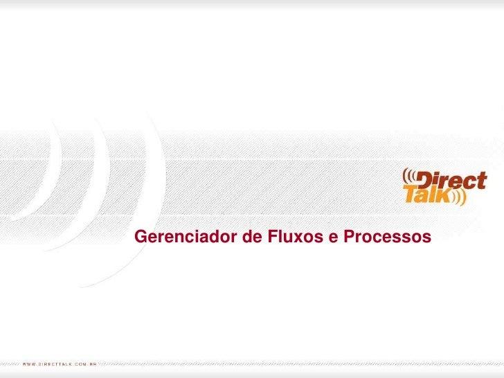 Gerenciador de Fluxos e Processos