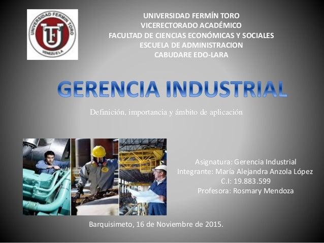 UNIVERSIDAD FERMÍN TORO VICERECTORADO ACADÉMICO FACULTAD DE CIENCIAS ECONÓMICAS Y SOCIALES ESCUELA DE ADMINISTRACION CABUD...