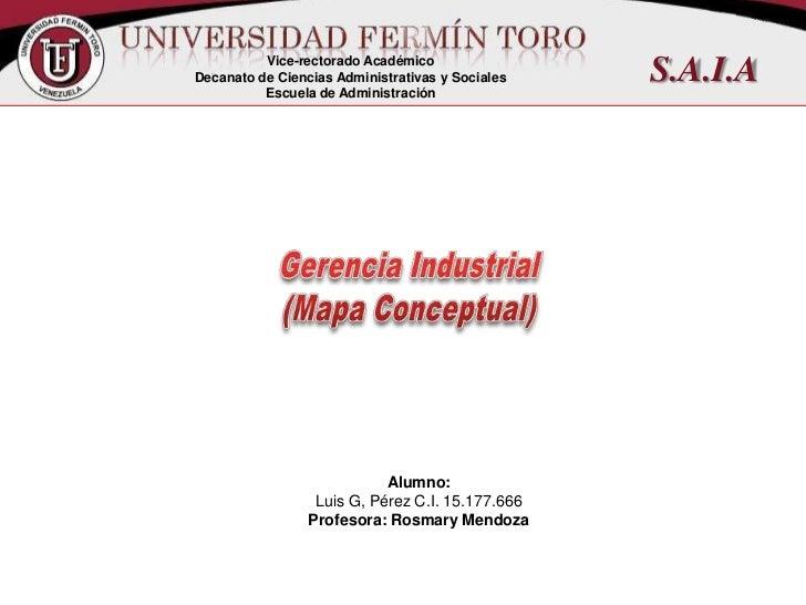 Gerencia industrial mapa conceptual