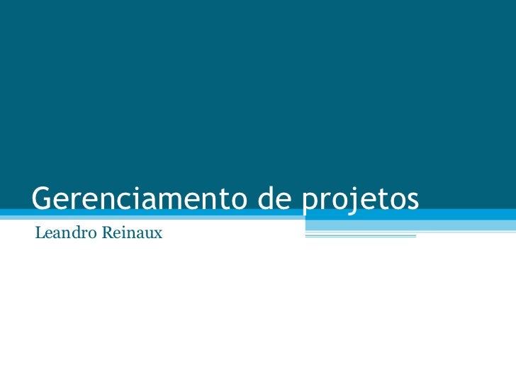 Gerenciamento de projetos Leandro Reinaux