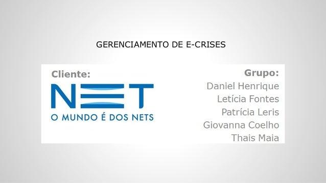 GERENCIAMENTO DE E-CRISES