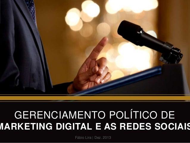 Gerenciamento de marketing politico digital