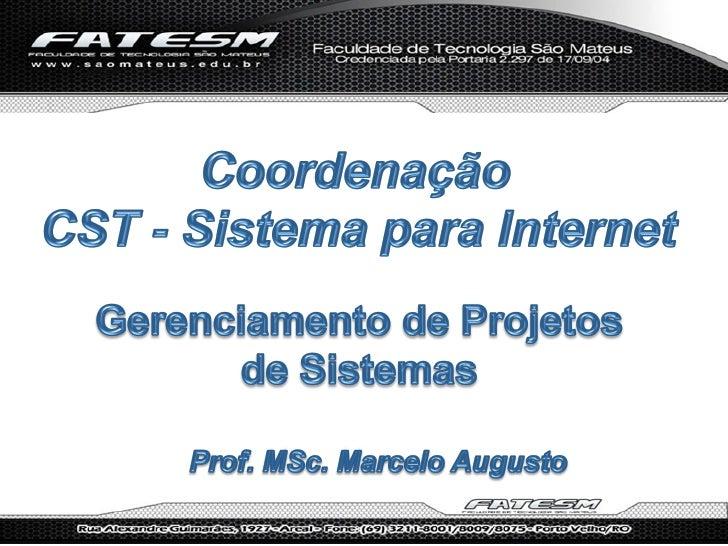 Gerenciamento de projetos de sistemas   2012.1