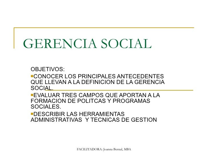 Gerencia social 101 jbbp