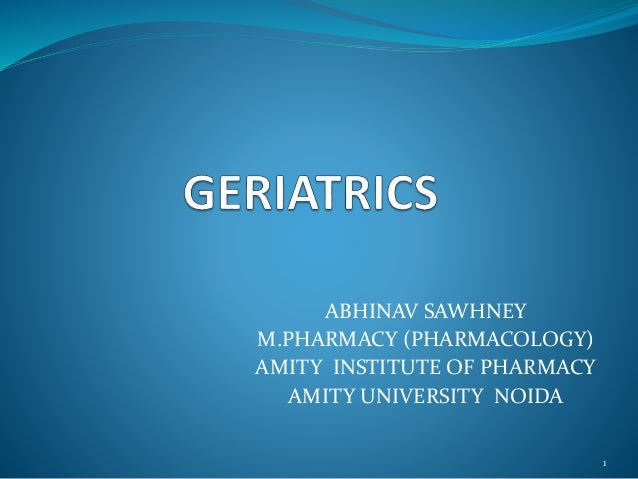 ABHINAV SAWHNEY M.PHARMACY (PHARMACOLOGY) AMITY INSTITUTE OF PHARMACY AMITY UNIVERSITY NOIDA 1